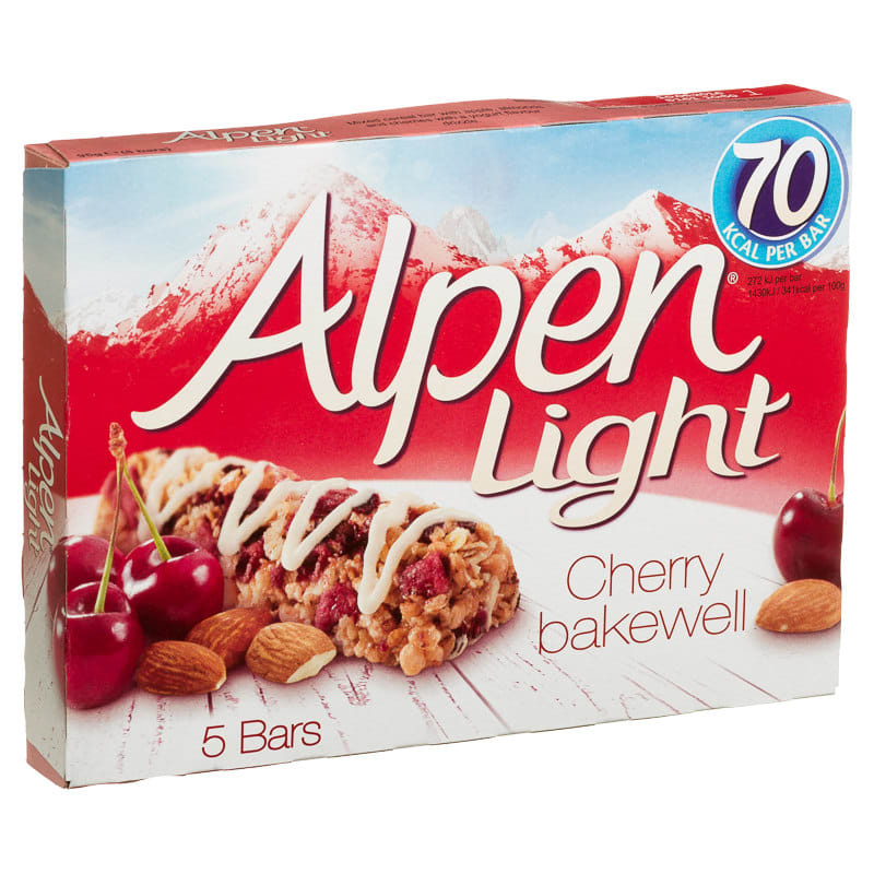 Alpen light cherry bakewell 5pk cereal bars snacks 301479 alpen light cherry bakewell 5 cereal bars aloadofball Image collections