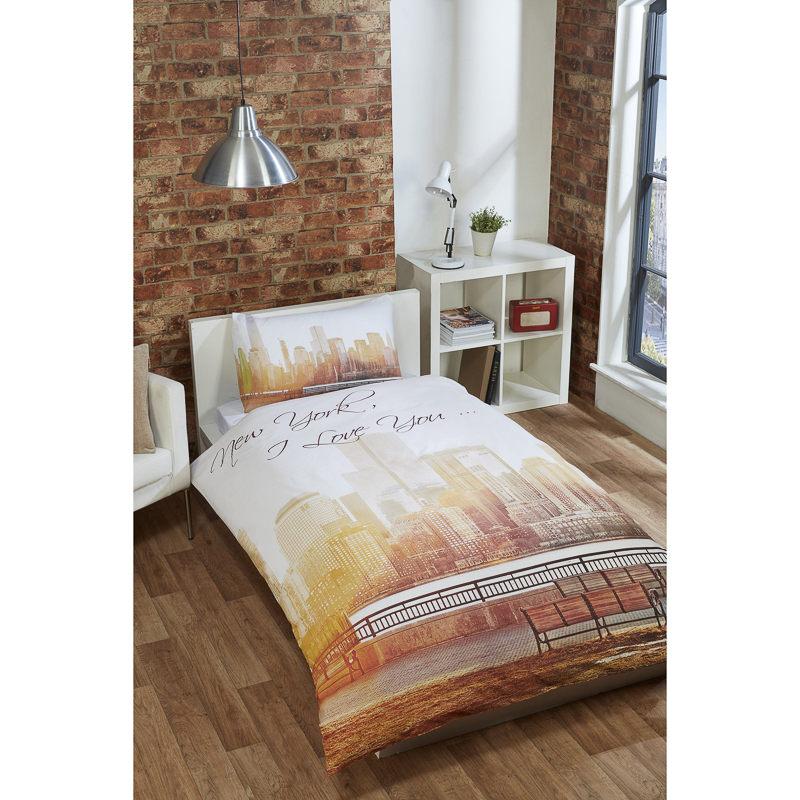 New York City Scene Single Duvet Set Bedding Duvet Cover