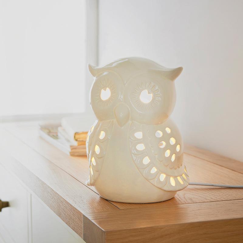 Ceramic Owl Decorative Table Lamp Decorative Home Lighting
