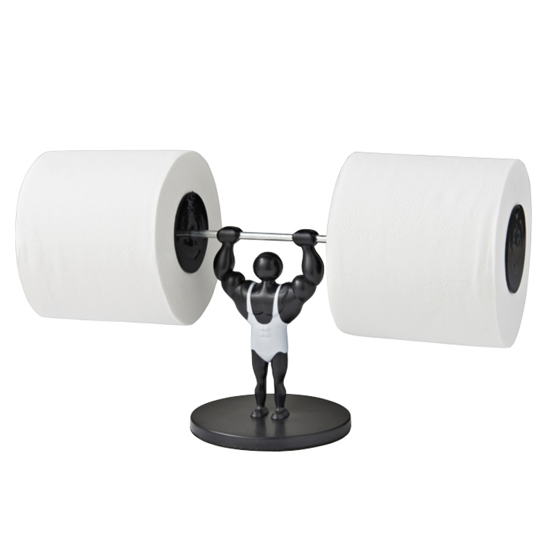 B M Weight Lifting Toilet Roll Holder Novelty Gifts