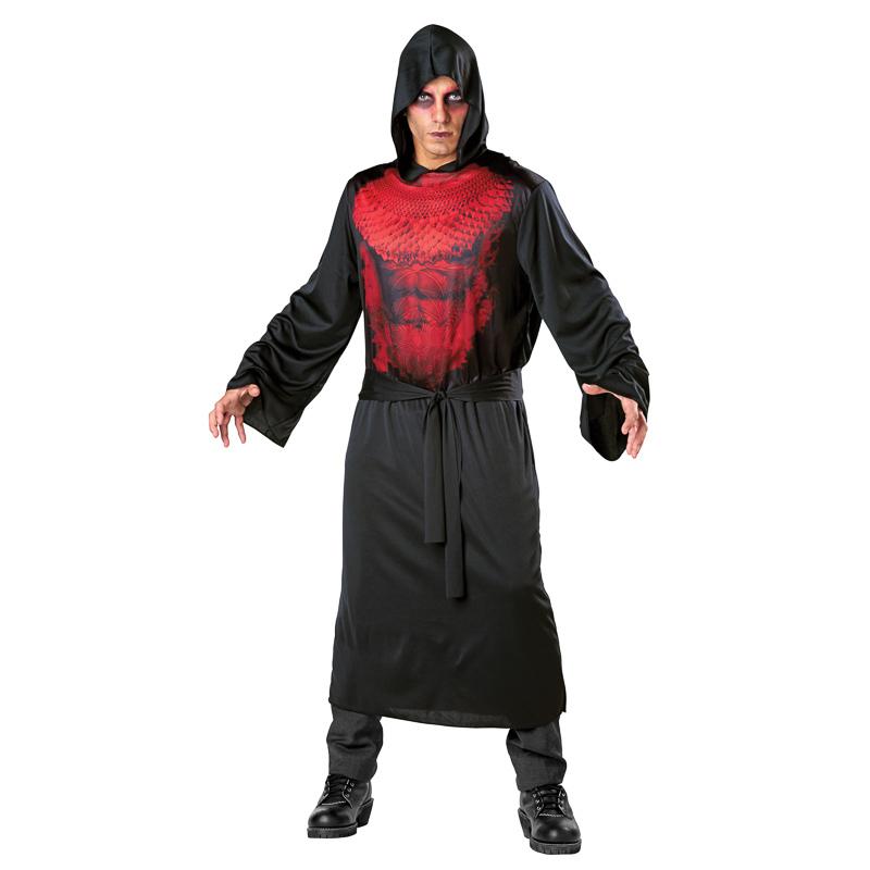 B Amp M Mens Scary Hooded Robe Costume Dark Demon