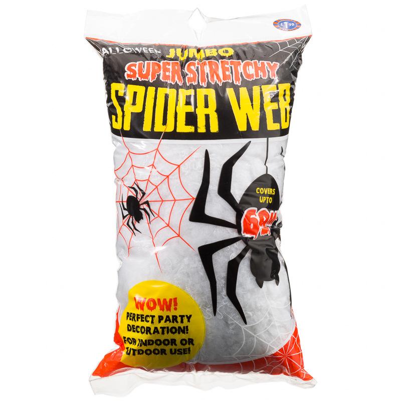 B m jumbo super stretchy spider web halloween decoration for B m halloween decorations