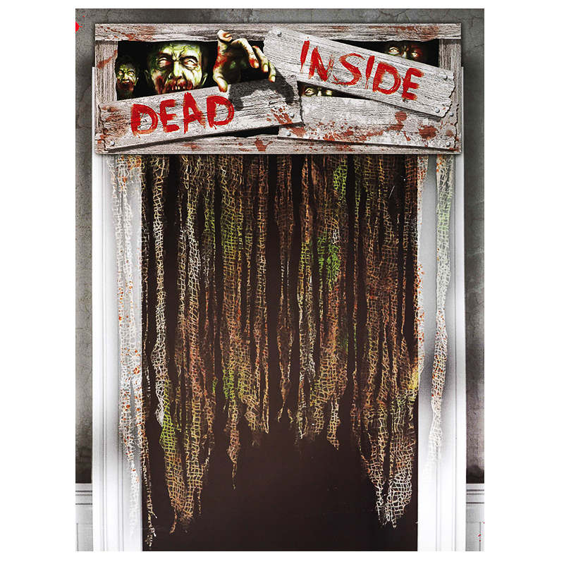 B m halloween door curtains dead inside decorations for B m halloween decorations