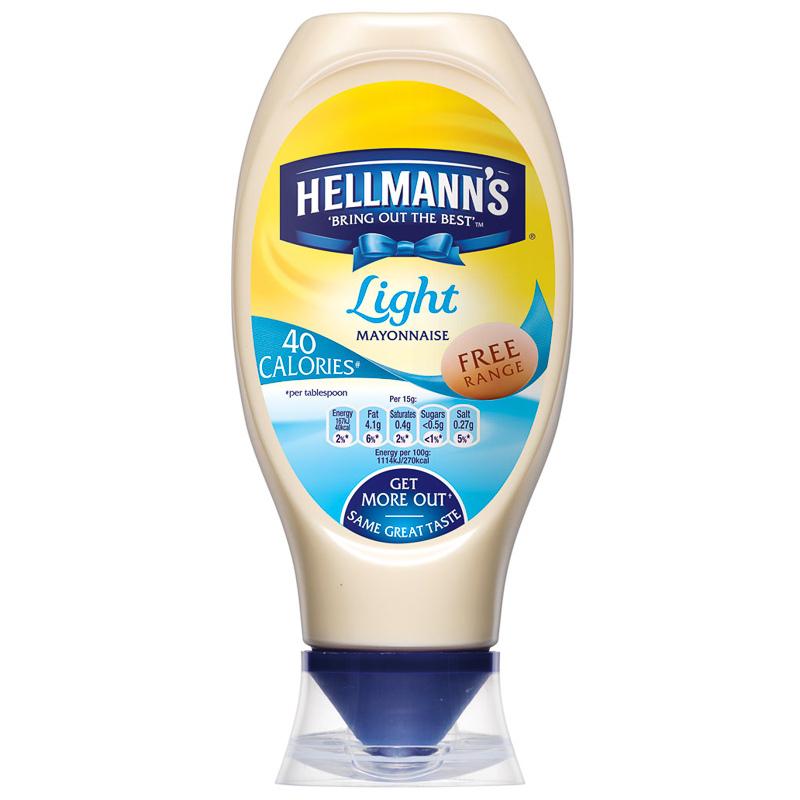 302128 Hellmanns Light Mayonnaise 750ml