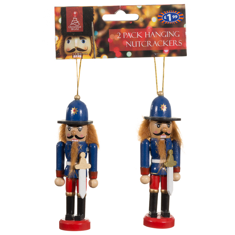 B m hanging mini nutcracker 2pk christmas decorations for B m christmas decorations