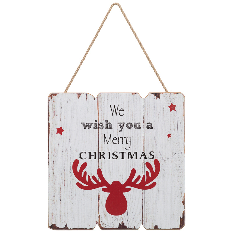 B m stag weathered plaque christmas decorations xmas for B m christmas decorations