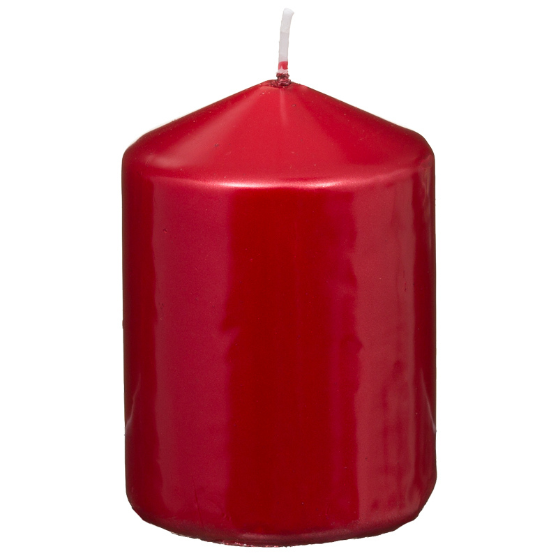 B m christmas pillar candle red 7 x 10cm for B m xmas decorations