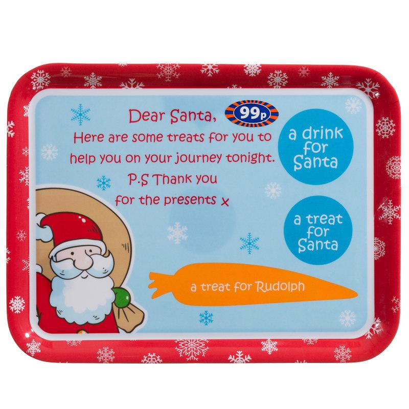 B Amp M Melamine Dear Santa Platter Christmas Tableware Trays