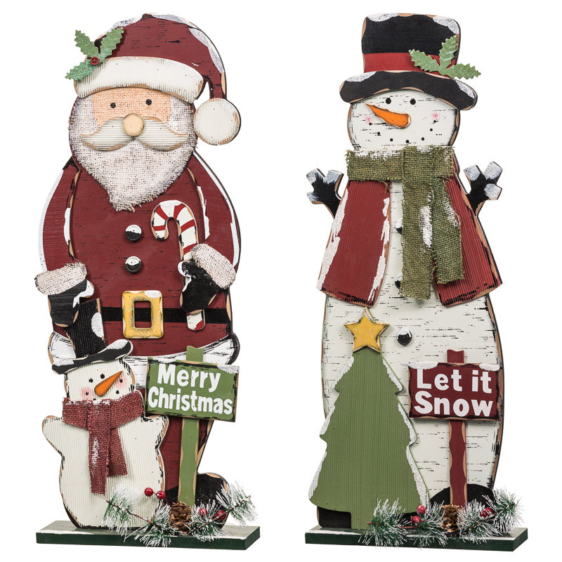B m rustic standing santa christmas decorations ornaments for B m christmas decorations