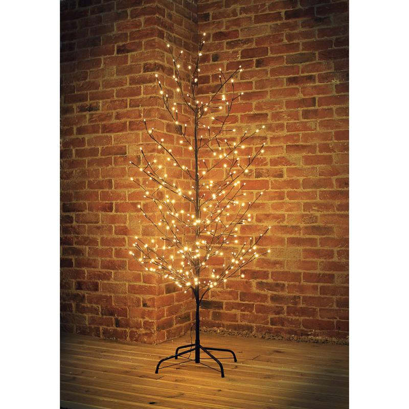 B Amp M Black Led Twig Christmas Tree 6ft Artificial Tree Xmas