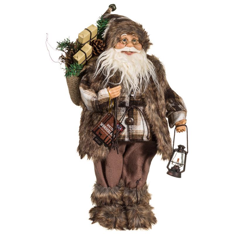 Woodland Santa 45cm | Christmas Decorations - B&M
