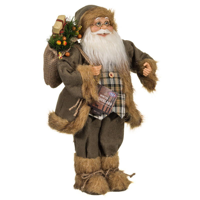 Woodland santa 45cm christmas decorations b m for B m christmas decorations