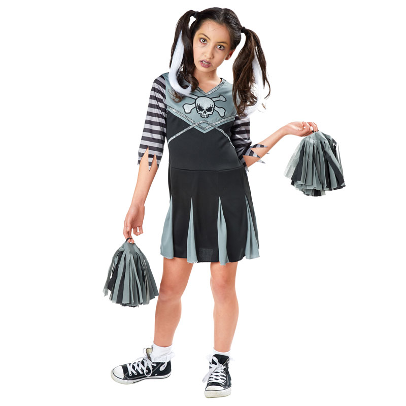 Kids halloween costumes girls cheerleader dress up zombie goth
