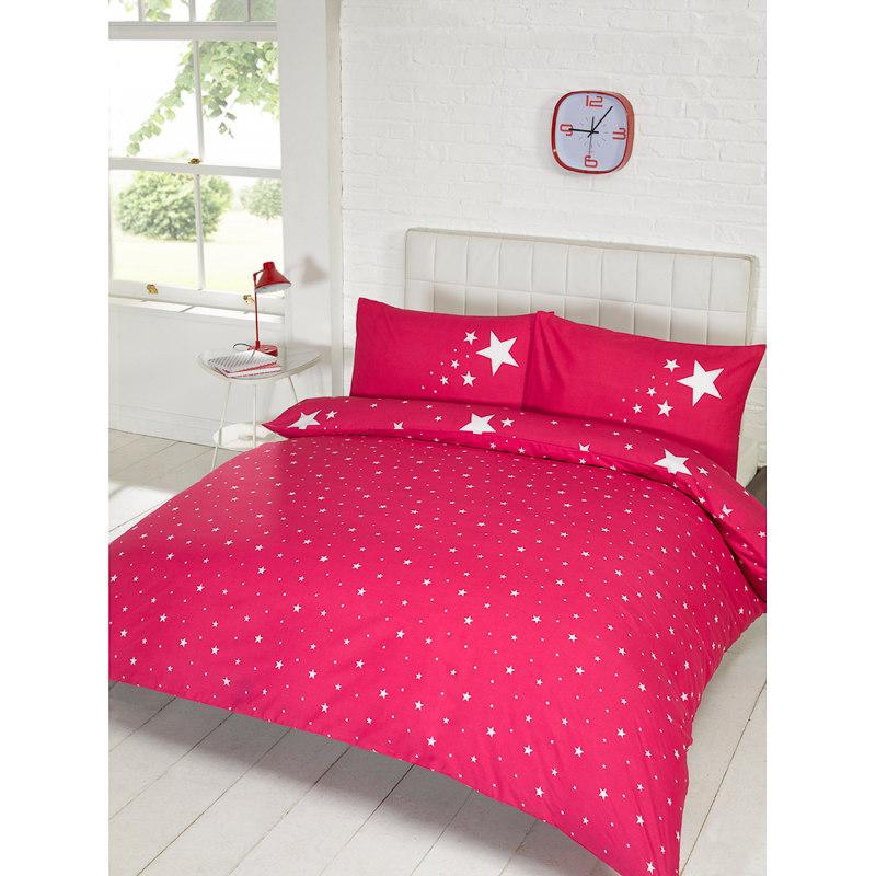 Glow In The Dark Double Duvet Set Pink Bedding Duvet
