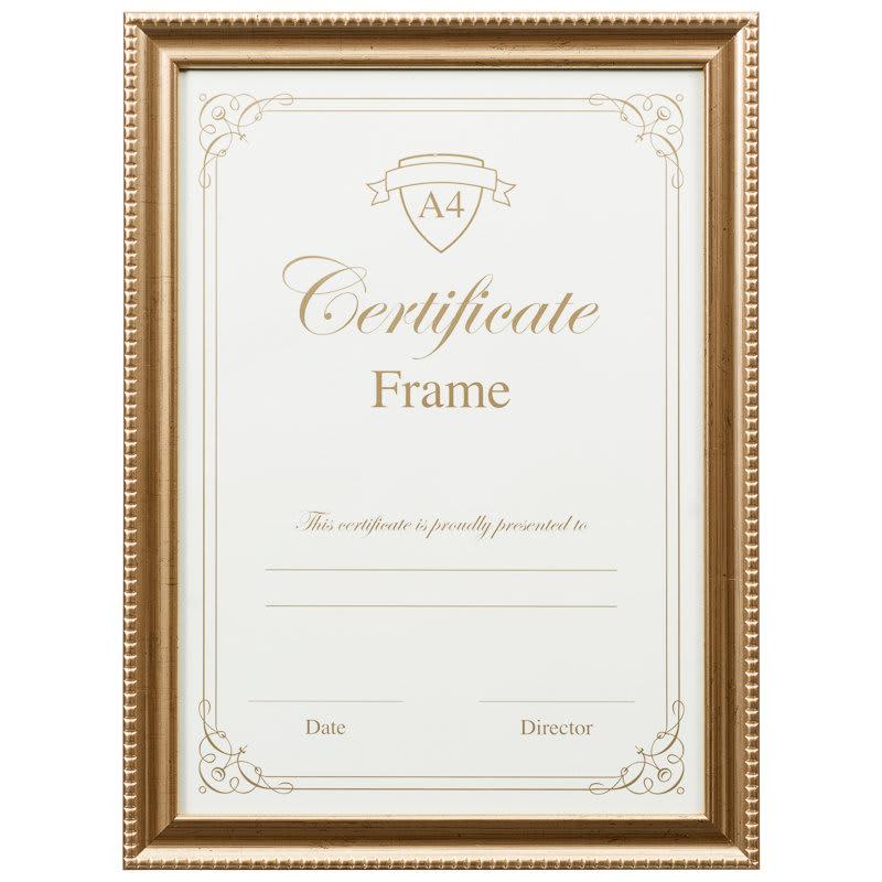 A4 Certificate Frame 3pk - Gold | Photo Frames, Frames