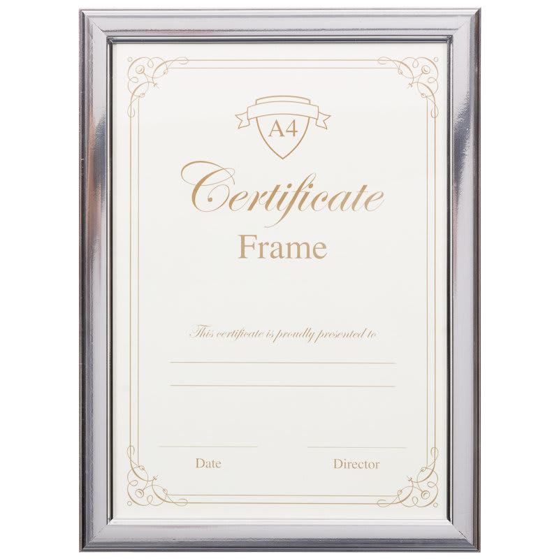 A4 Certificate Frame 3pk Silver Photo Frames Frames