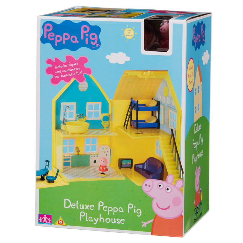 peppa pig deluxe playhouse play sets toys kids. Black Bedroom Furniture Sets. Home Design Ideas