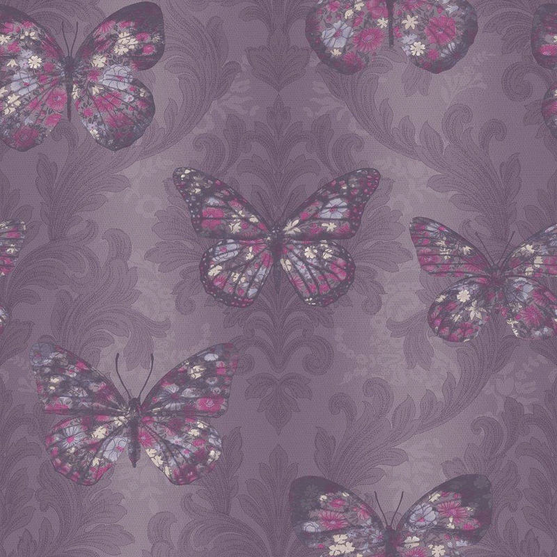 Arthouse Midsummer Plum Wallpaper 312110 B Amp M