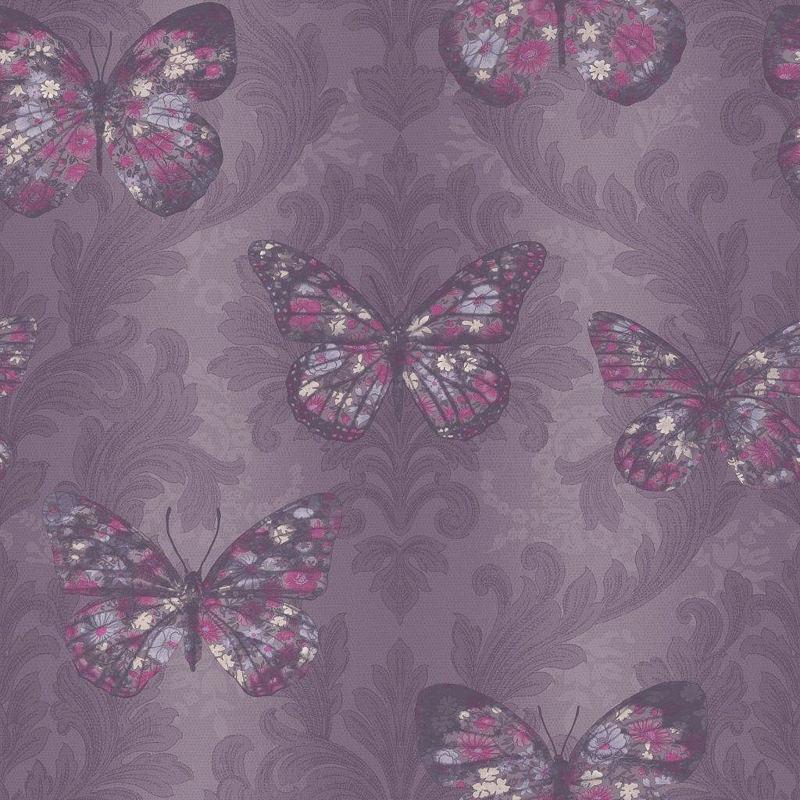purple butterfly wallpaper uk
