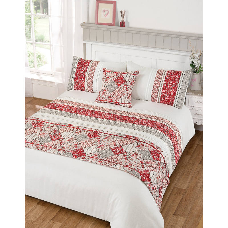 Lila Pintuck Bed In A Bag Double Duvet Set Bedding