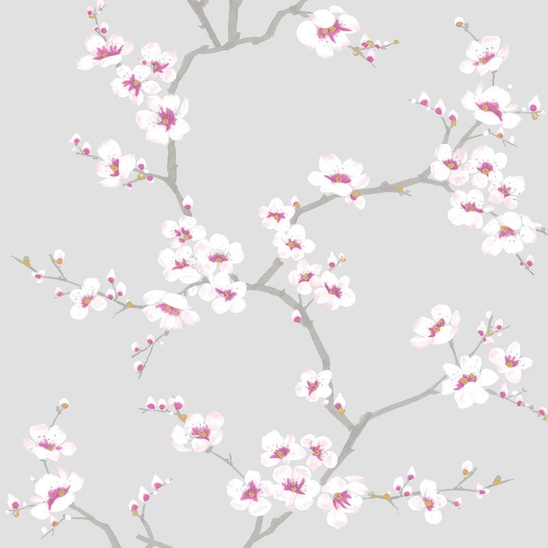 b m graham brown apple blossom tree wallpaper grey. Black Bedroom Furniture Sets. Home Design Ideas