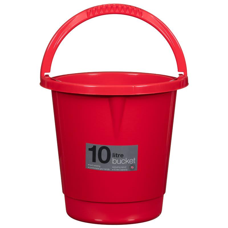 Kent Car Care Plastic Bucket 10 Litre Black