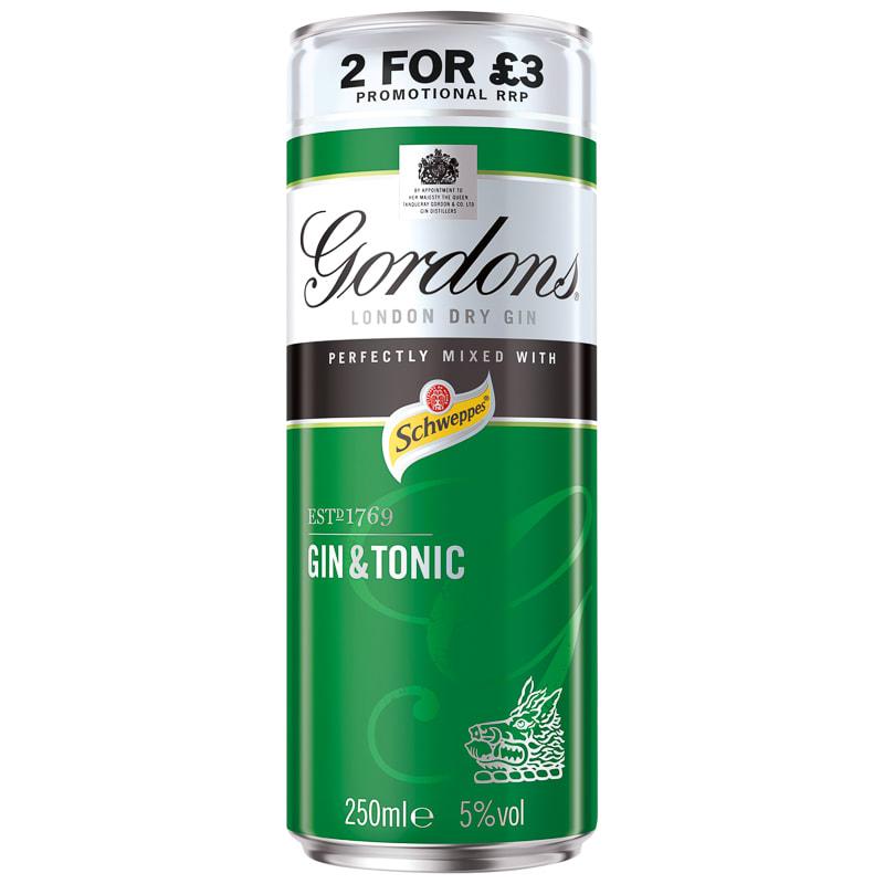 Gordon S Gin Amp Tonic 250ml Alcohol Spirits B Amp M Stores