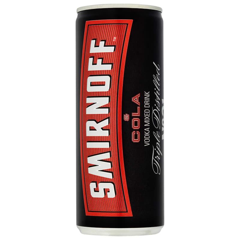 Smirnoff Red Label Vodka & Cola 250ml