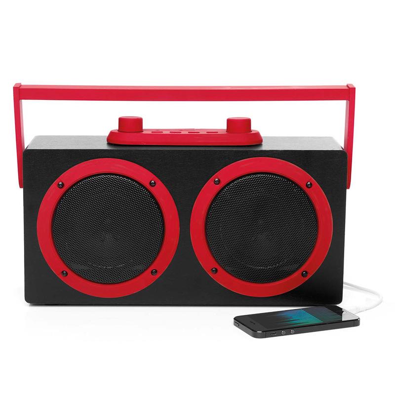 B&M: Intempo Bluetooth Pair & Play Retro Blaster - Red