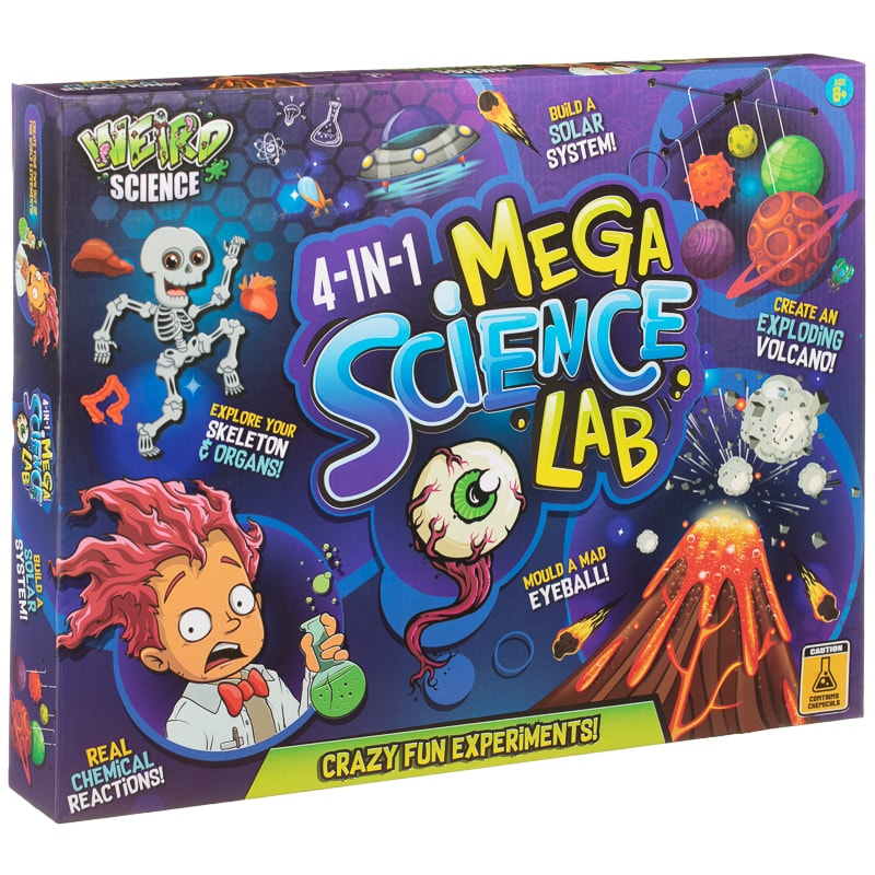 4-in-1 Mega Science Lab - Crazy Fun Experiments