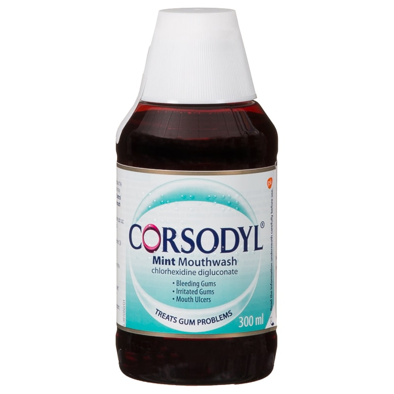 Corsodyl Mint Mouthwash 300ml Mint Dental Care B Amp M