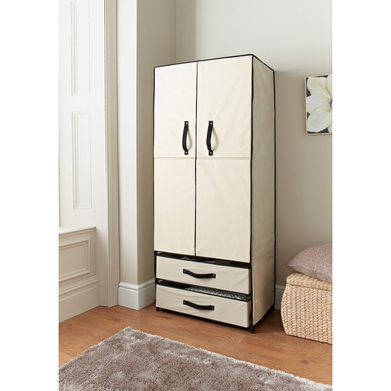 Deluxe Double Canvas Wardrobe Bedroom Furniture Furniture