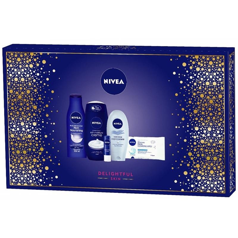 Nivea Delightful Skin Gift Set 5pc | Beauty Gift for Women - B&M