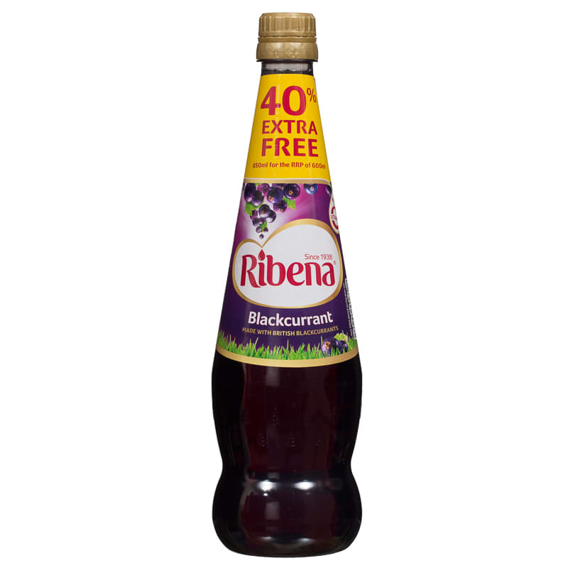 Ribena Blackcurrant 850ml Fruit Juice Concentrated Juice