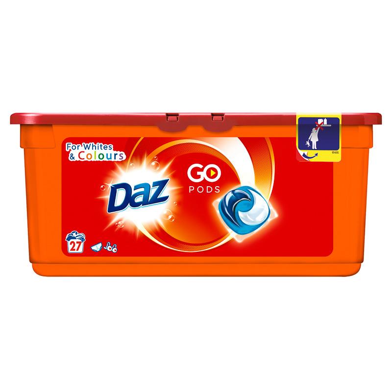 Daz Go Pods 27pk Washing Powder Amp Detergent