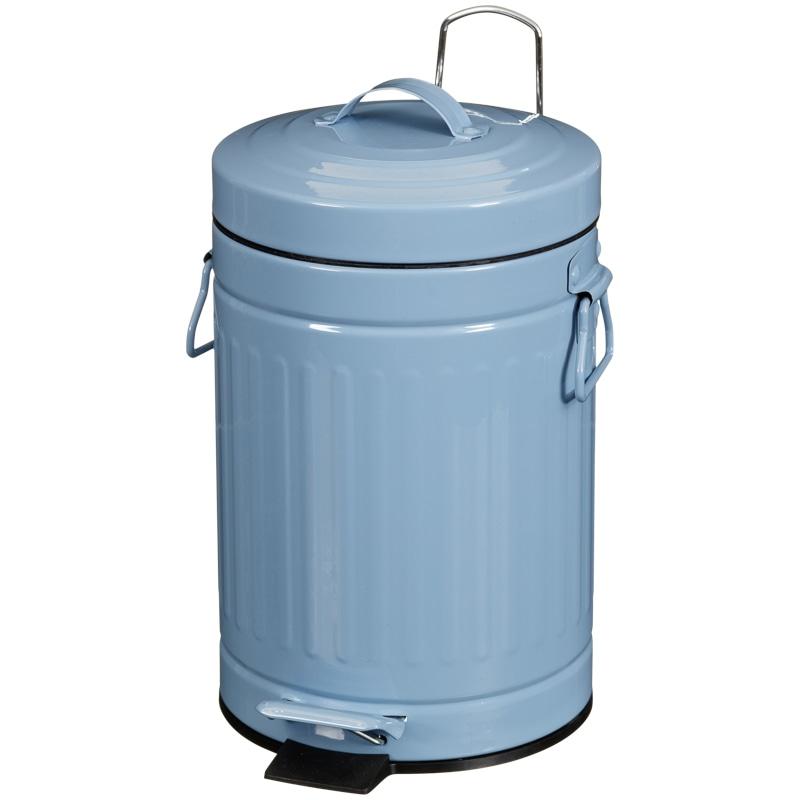 Retro pedal bathroom bin home bathroom b m for Blue bathroom bin