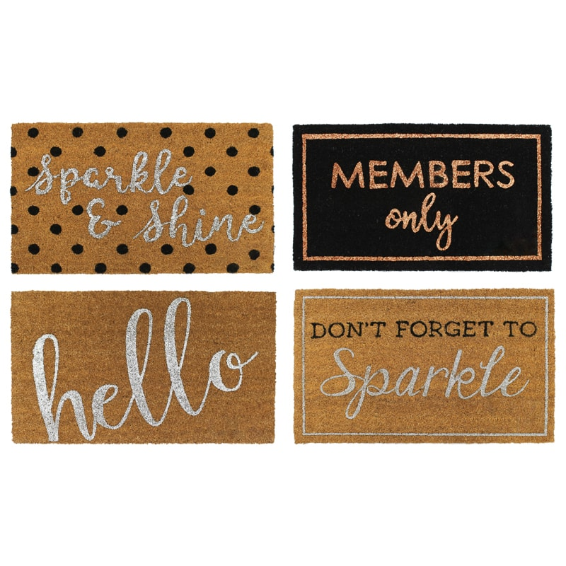 Sparkle Coir Doormat - Members Only
