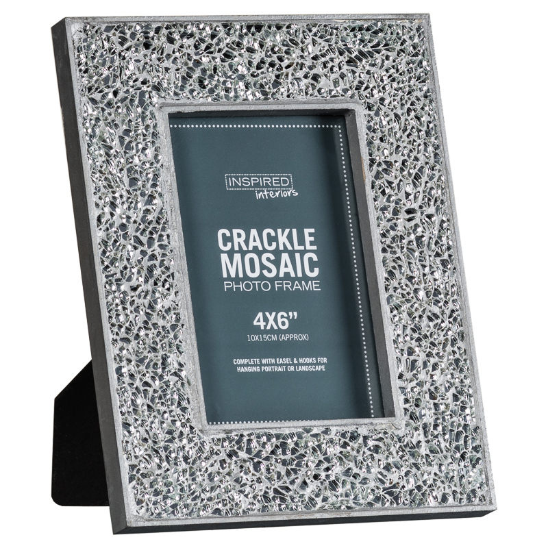 crackle mosaic photo frame 4 x 6 - Mosaic Picture Frames