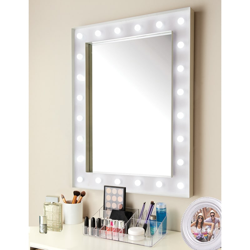 stunning hollywood light bulb mirror ideas