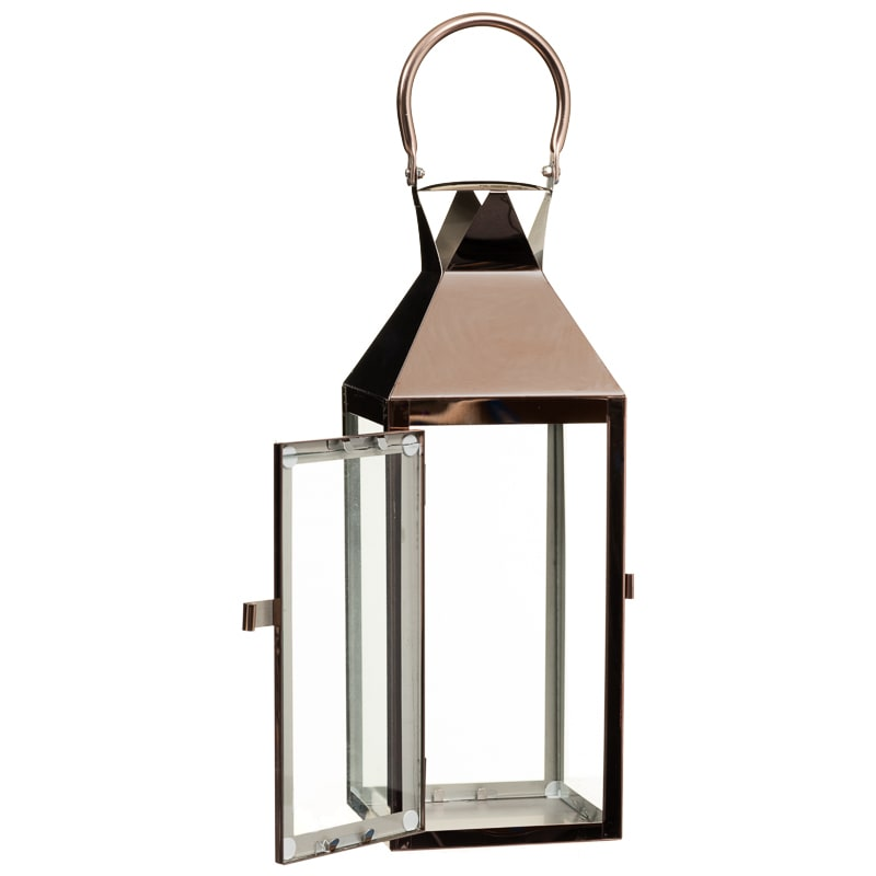 Plated lantern large home decor decorative accessories for Decor lanterns