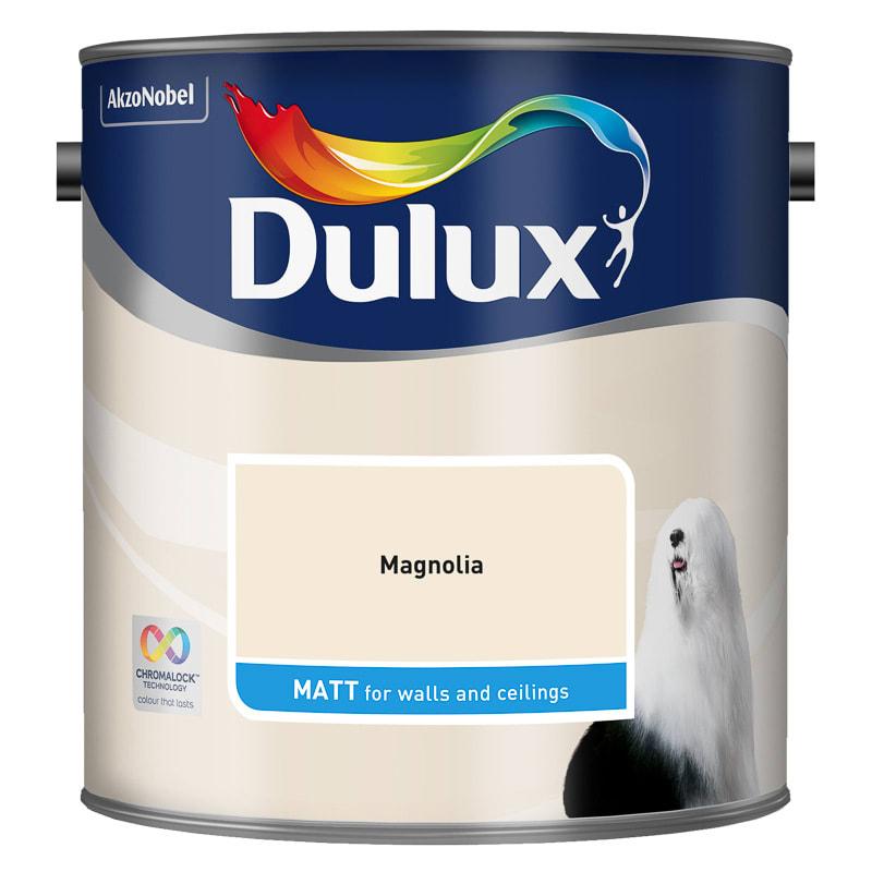 dulux matt emulsion magnolia 2 5l painting decorating