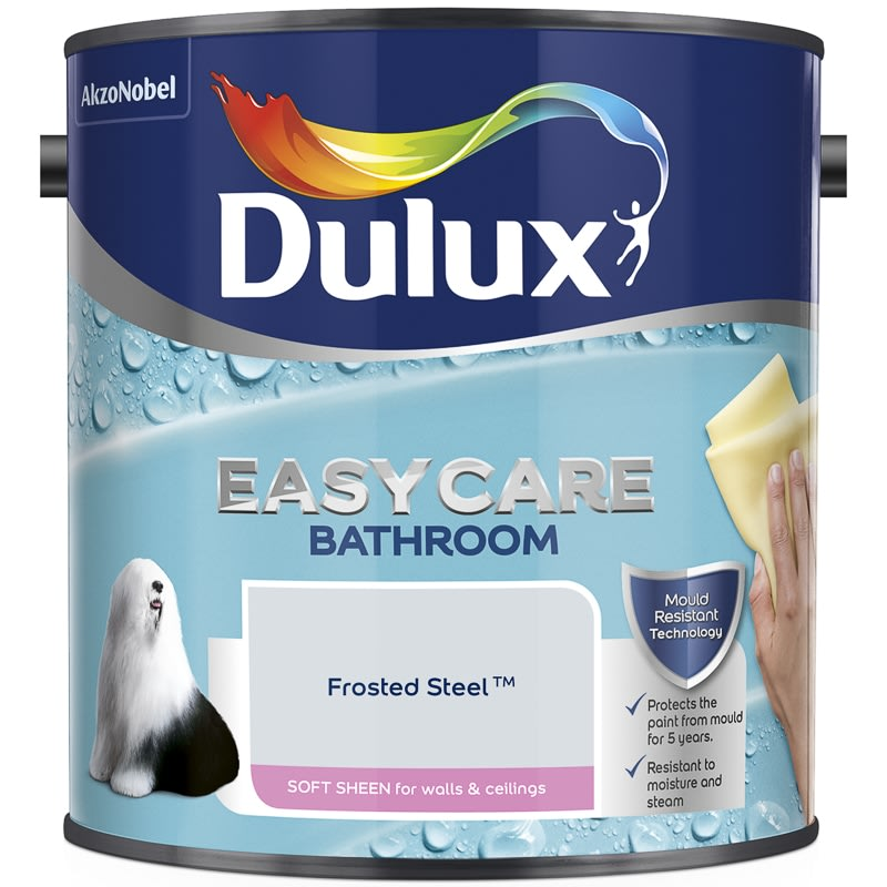 Dulux Easycare Bathroom Soft Sheen Frosted Steel 2.5L
