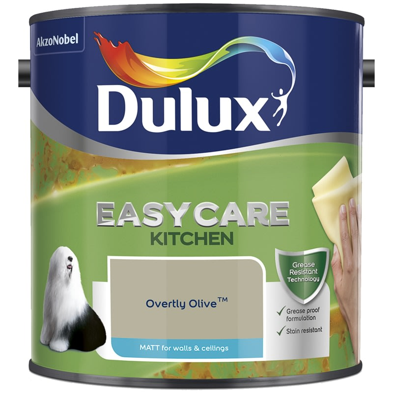 Dulux Easycare Kitchen Matt Overtly Olive 2.5L