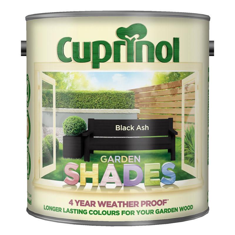 cuprinol garden shades black ash 2 5l exterior paint. Black Bedroom Furniture Sets. Home Design Ideas