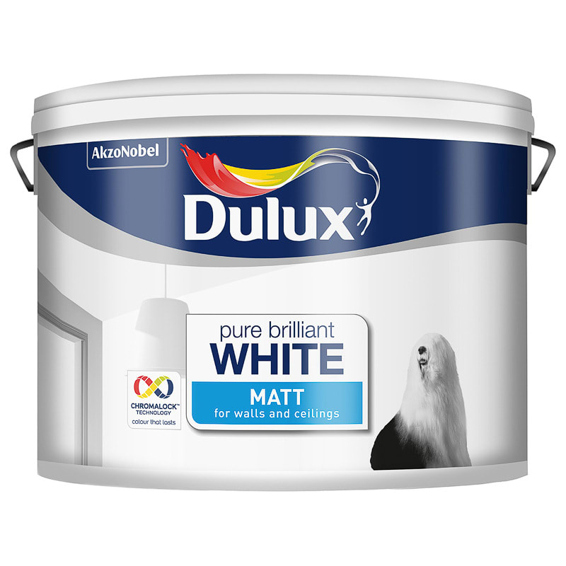 Dulux Pure Brilliant White Matt Emulsion Paint