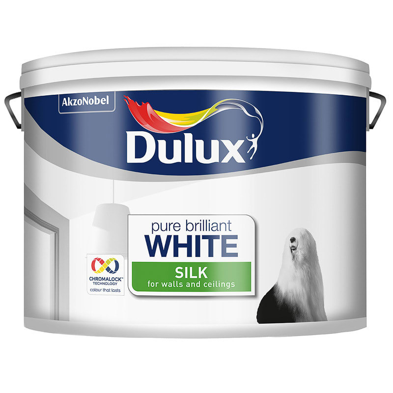 Dulux Pure Brilliant White Silk Emulsion 5l Painting
