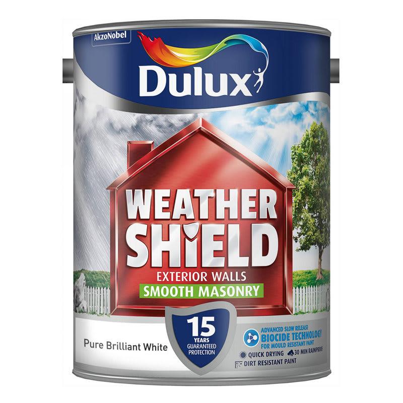 Dulux Weathershield Smooth Masonry Cornish Cream 5L   Paint