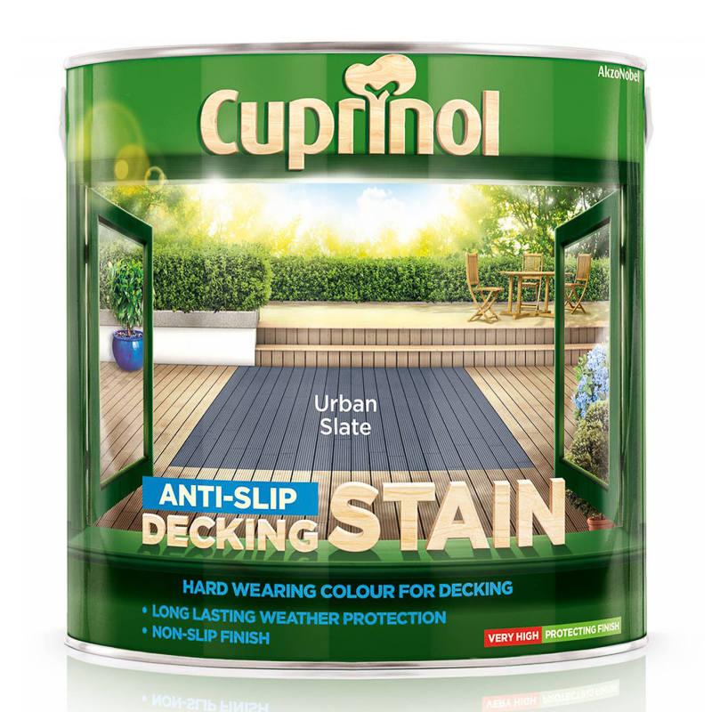 Cuprinol Anti Slip Decking Stain Urban Slate 2 5l Paint