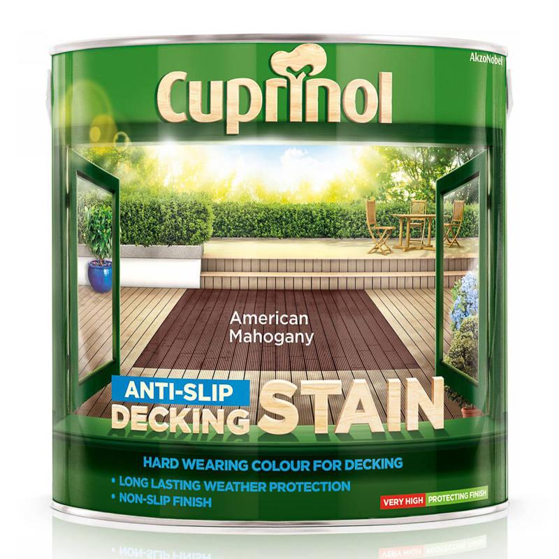 Cuprinol Anti Slip Decking Stain American Mahogany 2 5l
