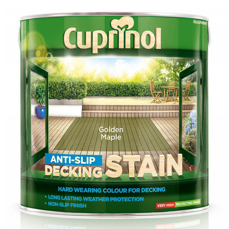 Cuprinol Anti Slip Decking Stain Golden Maple 2 5l Paint